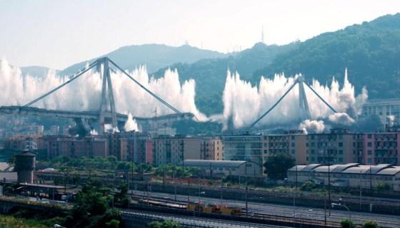 28 giugno 2019: l'implosione del ponte morandi